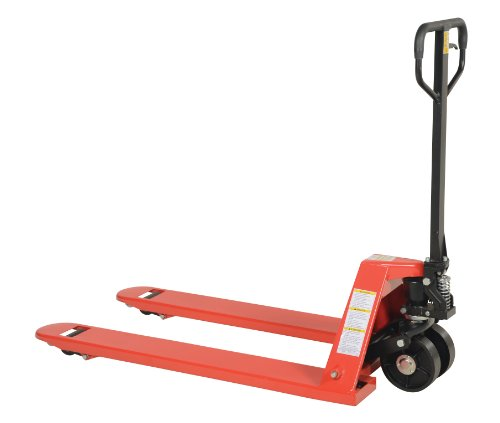Vestil PM5-2748-S Full Featured Pallet Truck with Steel Wheels, 5500 lbs Capacity, 48