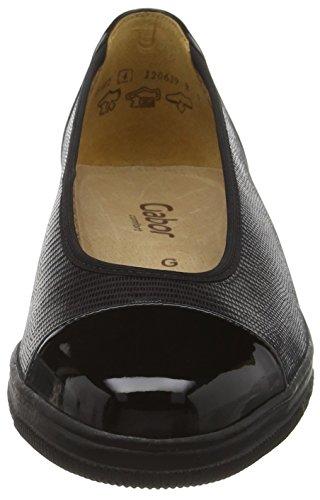 Gabor Shoes Comfort Basic, Mocasines para Mujer Negro (Schwarz 17)