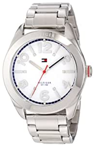 Tommy Hilfiger 1781259 - Reloj de mujer de acero inoxidable (40 mm), color plateado y blanco