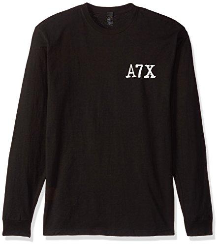 Bat Long Sleeve T-shirt - FEA Men's Avenged Sevenfold Biker Bat Longsleeve T-Shirt, Black, Small