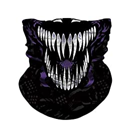 JOEYOUNG Skull Face Mask – UV Sun Mask Dust Wind Neck Gaiter, Half Face Mask for Motorcycle Riding Skeleton Bandana, Seamless Headwear Tube Mask for Fishing Hunting Cycling Men Women