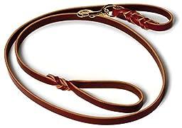 Leather Dog Training Leash - 6\' X 3/4\