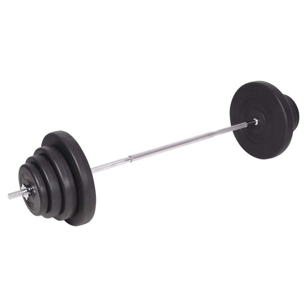 vidaXL Juego de Pesas 120kg Barra y Mancuernas Fitness y Musculación Gimnasio: Amazon.es: Deportes y aire libre