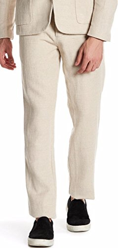 James Perse Drawstring Cotton/Linen Textured Chinos in Linen Size 30x30 ()