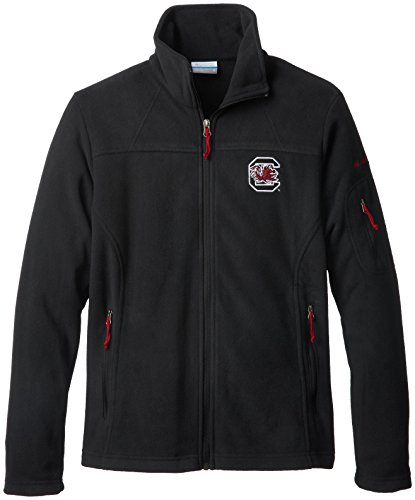 NCAA South Carolina Fighting Gamecocks Women's Give and Go Full Zip Fleece Jacket, Black, (South Carolina Womens Zip)