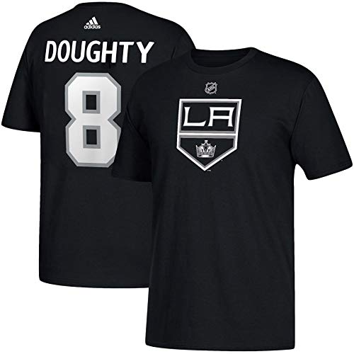 adidas Los Angeles Kings Drew Doughty NHL Silver Player Name & Number T-Shirt - XX-Large (Kings Player)