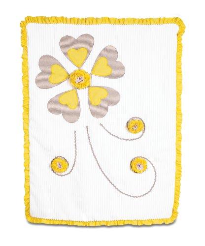 Pavilion Gift Company Ribbed Chenille Baby Blanket, Sunshine, 30