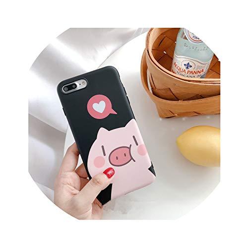 Cute Cartoon Couple Pig Phone Case for iPhone
