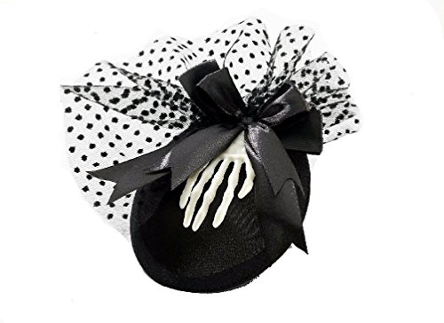 Mini Skeleton Hat With Clips Halloween Hat Ladies