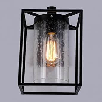 hua Seeded Glass Edison Wall Lamp
