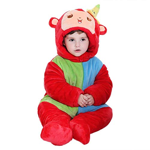 Unisex Baby Onesie Winter Romper Animal Pajamas Costume Cosplay Clothes ()