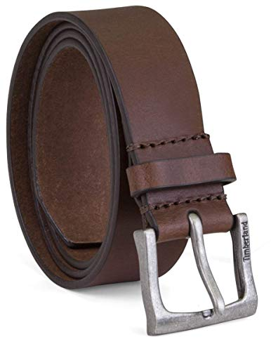 Brown Leather Denim - Timberland Men's 35Mm Classic Leather Jean Belt, Brown, 38