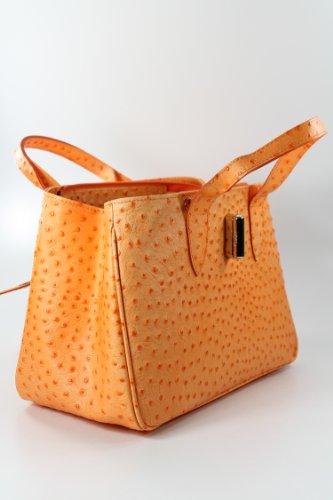 Belli - Bolso de asas de cuero para mujer Naranja Orange - ORANGE