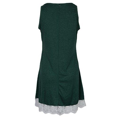 Midi Pleno Encaje DOLITY Cóctel Flojo Playa 50s Vintage Verde Abierta Encaje Vestido D V Casual x1XYqtAww