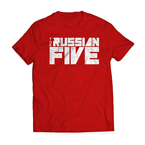 The Russian Five 5 Official Movie Shirt - Official Logo of Red Wings Documentary