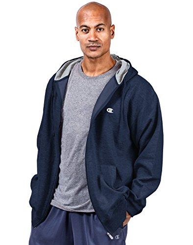 Champion Big & Tall Men's Zip Fleece Hoodie Navy (Tall Hooded Fleece)