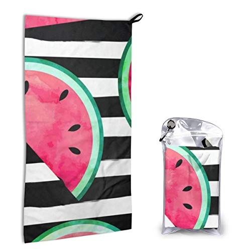 Microfiber Towel Fast Drying Super Absorbent Fruity Watermelon for Sports, Travel, Beach, Camping