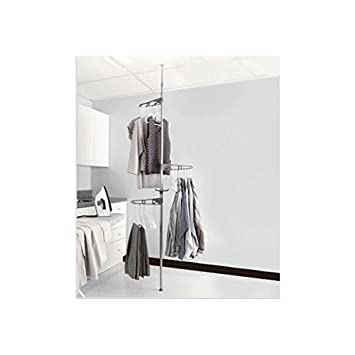 Tension Pole Clothes Hanger Dryer: Home, Travel Or College