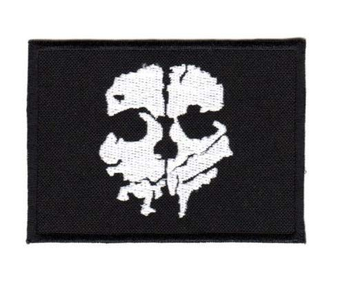 Call of Duty Ghost Skull Military Patch Fabric Embroidered Badges Patch Tactical Stickers for Clothes with Hook & Loop ()