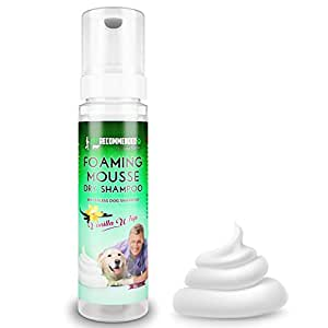 NEW Vet Recommended - Waterless Dog Shampoo - No Rinse Dry Foam Spray Mousse - Vanilla Whip - 8oz/240ml, Made in USA.