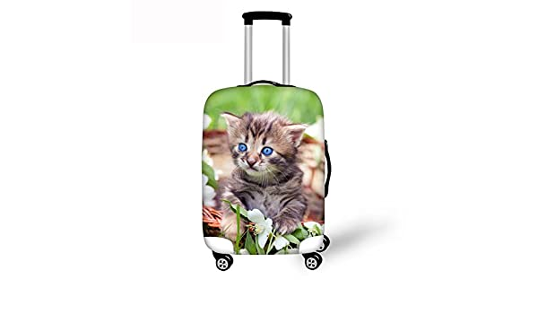 Horeset Luggage Cover Travel Washable Cute Animal Pattern Spandex Suitcase Protector Carry On Covers 10