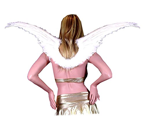 SACASUSA (TM Large White Feather Angel Fairy costume Wings Cosplay Halloween