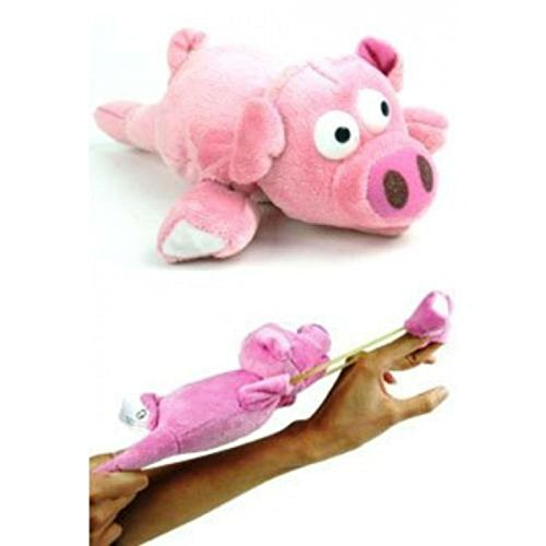Flys 50 Feet Slingshot Flying Screaming Oinking Pig Pink by Unbranded