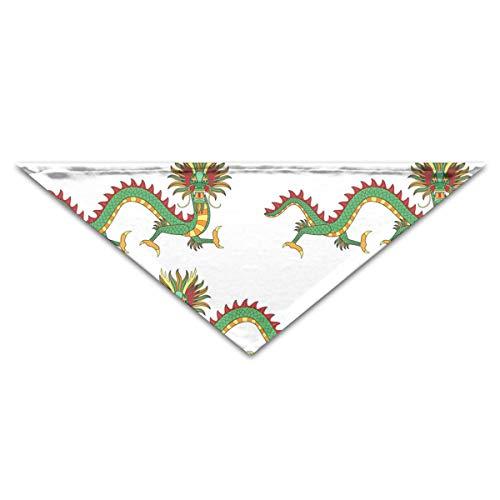 OHMYCOLOR Asian Dragon Dinosaur Print Dog Bandanas Scarves