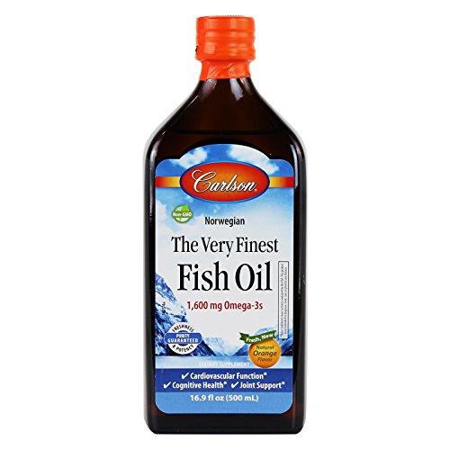 - Carlson The Very Finest Fish Oil Liquid Omega-3 Orange, 500ml