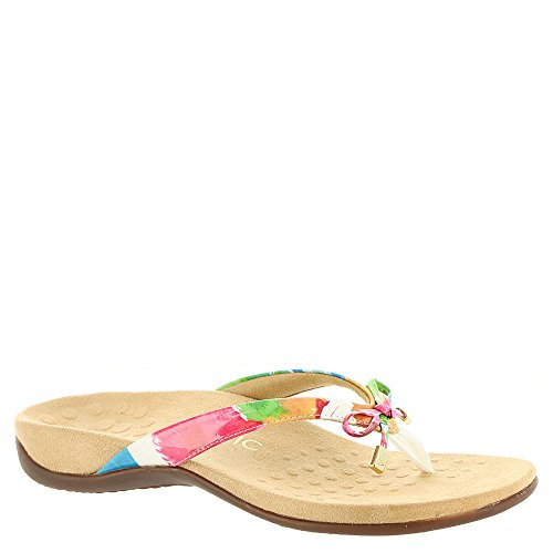 Vionic Bella - Womens Orthotic Thong Sandals White Floral - 8 Medium