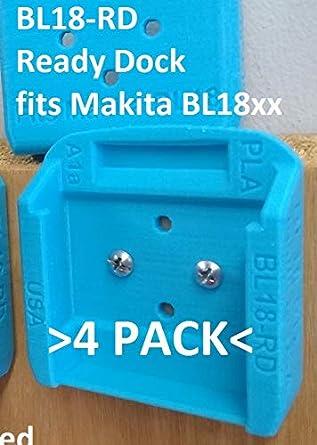 20x BLACK Battery Mounts for Makita 18v LXT Li Ion Batteries Holders Wall Hanger