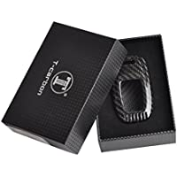 T-Carbon Geniune Carbon Fiber Remote Key Chain 3k Highlight Polish Keyless Protection Case Cover for Audi A4L A6L Q5 Q7 S6 A7 A8L S5 S6 S8
