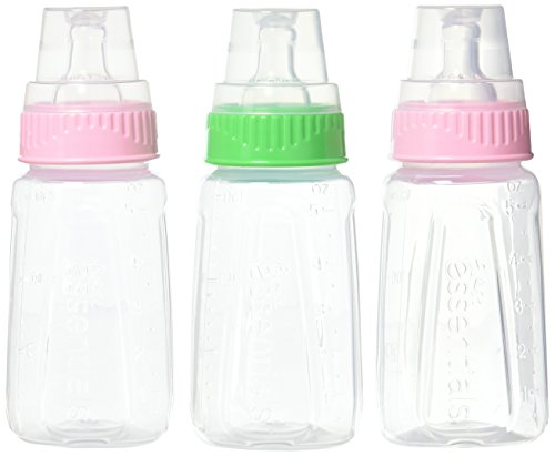 NUK Gerber 3 Piece First Essentials Clear View Bottle, Girl, Slow Flow, 5 Ounce