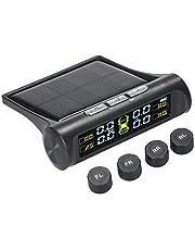 Romacci Sistema de monitoramento sem fio solar da pressão dos pneus do carro TPMS com 4 sensores externos