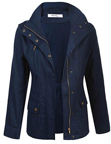 Meaneor Womans Classic Military Safari Utility Anorak Street Fashion Jacket ()