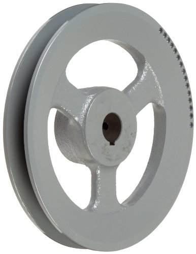 "TB Woods BK6734 FHP Bored-to-size V-Belt Sheave, B Belt Section, 1 Groove, 3/4"" Bore, Cast Iron, 6.45"" OD, 3880 max rpm"
