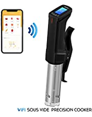Inkbird WiFi Sous Vide Cookers ISV-100W, 1000W Stainless Steel Thermal Immersion Circulator with Recipe, Digital Interface, Precise Temperature and Timer for Kitchen, Food Slow