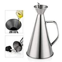 4SGM Stainless Steel Oil Pourer with Handle - 1L