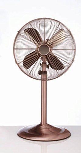 48'' Bronze Traditional Style Adjustable Oscillating Indoor Standing Floor Fan by CC Home Furnishings