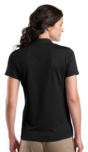 Sport-Tek Ladies Dry Zone Raglan Accent Performance Polo Shirt L475 XL Black