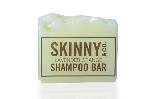 (SKINNY and CO. Chemical Free Shampoo Bar with 100% RAW Coconut Oil, Non-toxic (1 Bar) (Lavender Orange) ...)
