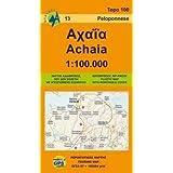 Achaia anavasi: Touring Map, Greece by Anavasi (2009-01-01)