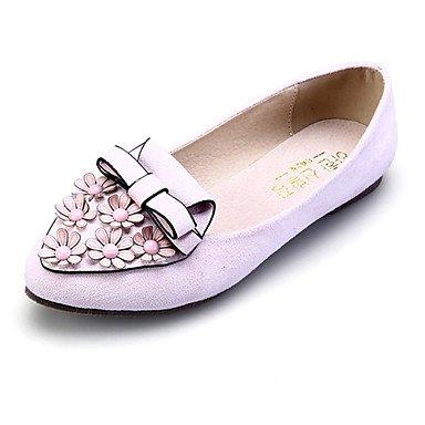 Cómodo y elegante soporte de zapatos de zapatos de mujer ante talón plano comodidad/señaló Toe/cerrado Toe Flats vestido/casual más colores disponibles rosa