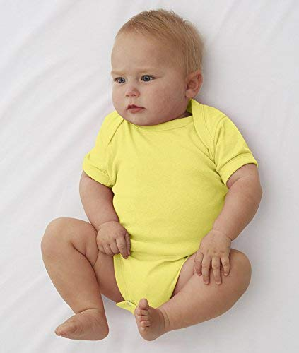 (Rabbit Skins 100% Cotton Infant Baby Rib Bodysuit [Size 6 Months] Vintage Green Short Sleeve Onesie)