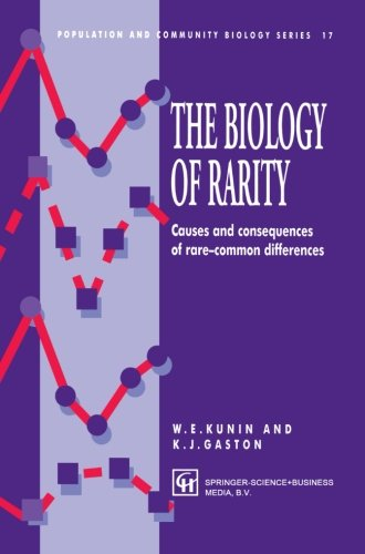 The Biology of Rarity: Causes and consequences of rare?common differences (Population and Community Biology Series)