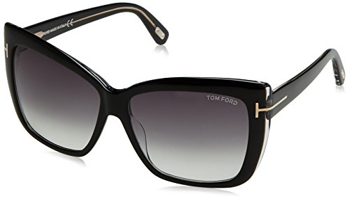 Tom Ford TF390 01B Black Irina Square Sunglasses Lens Category 2 Size - Square Ford Sunglasses Tom