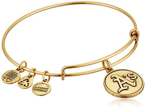 Alex and Ani Oakland Athletics Cap Logo Expandable Rafaelian Gold Bangle - Gold Mlb Bracelet