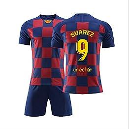 T-Shirt de Football Lionel Leo Messi Barcelona Barcelona Home Saison 2018-2019 - Toutes Les Tailles, garçons et Adultes WASDUNS (Color : NO.9, Size : 18#)