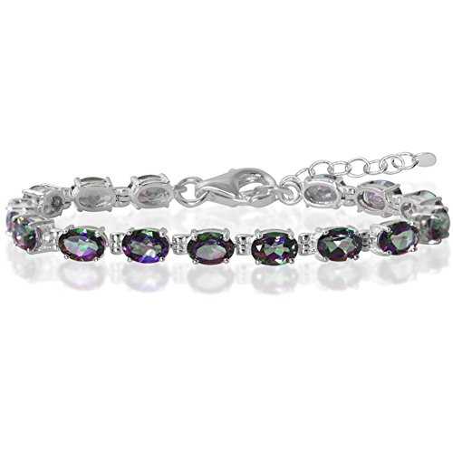 - 13.05ct. Mystic Fire Topaz 925 Sterling Silver 6-7.5