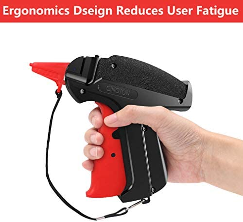 """CINOTON Clothes Tagging Gun, Price Tag Gun with 1500 pcs 2"""" Standard Fasteners, 6 Needles,10 pcs Labels, Tag Gun for Clothing Fit Yard Sale/Flea Market and Decorate 2"""